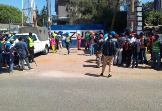 Seven feared dead after machine crumbles at construction site in Kilimani