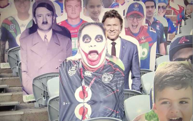 Sh2300 fans' cardboard scheme goes wrong after picture of Hitler, notorious serial killer used