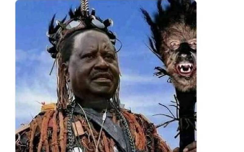 The truth behind viral 'Raila' witchdoctor picture