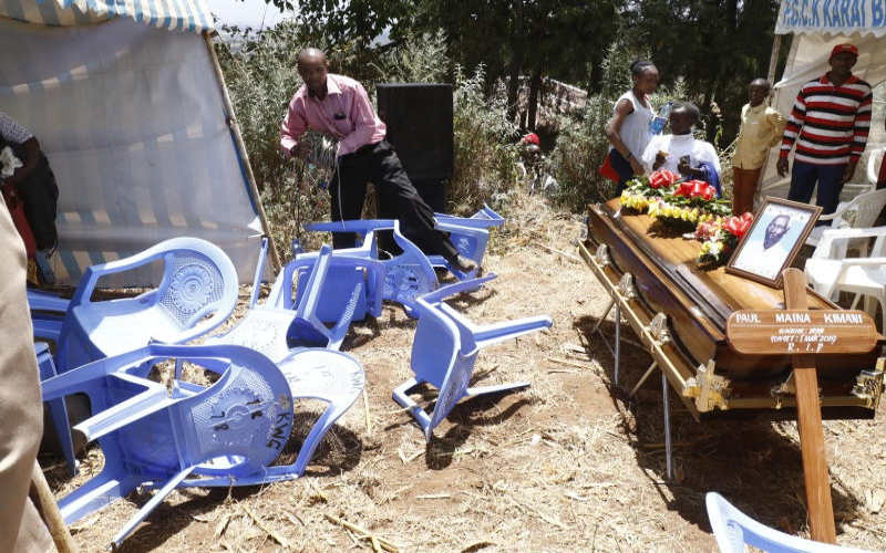 Burial put off as kin fight