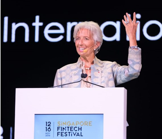 IMF chief urges central banks to offer cryptocurrency
