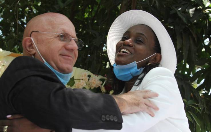 20 couples tie the knot at launch of open-air civil weddings