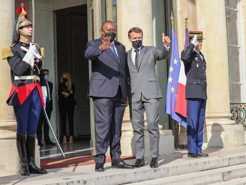 Uhuru and Macron seek to speed up key projects