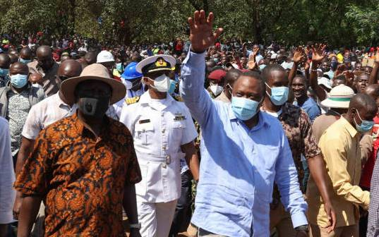 Uhuru, Raila stir Kisumu in first BBI referendum rally
