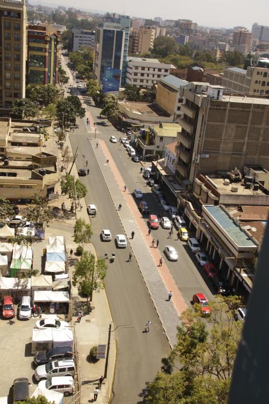 Nairobi Metropolitan Services reconstruct pedestrian paths along Muindi Mbingu Street (Photo: David Gichuru)