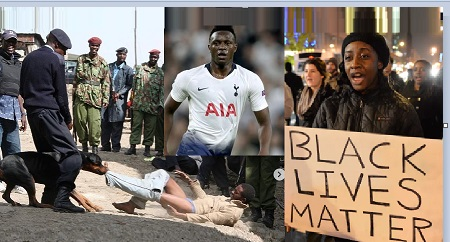 Wanyama joins protests against police brutality in Kenya and US