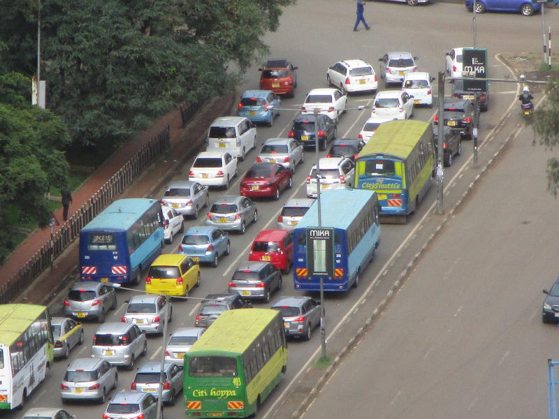 When heavy road policing leads to traffic jams