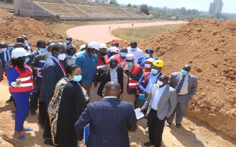 You've embarrassed the state, CS Amina tells stadium contractor