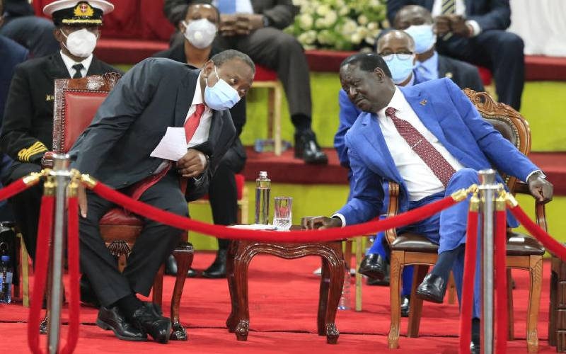All eyes on Uhuru and Raila on next step for law review