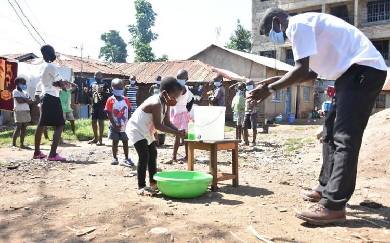 College students teach children Covid-19 hygiene