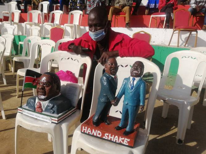 Come for your sculptures, Mr President: 'Famous' Kisumu artisan pleads