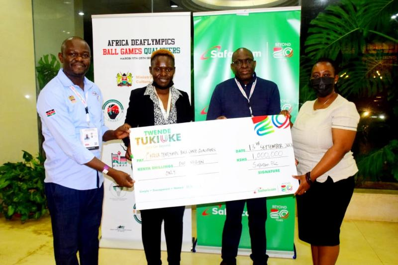 Deaflympics: Safaricom donates Sh1million to Kenyan team