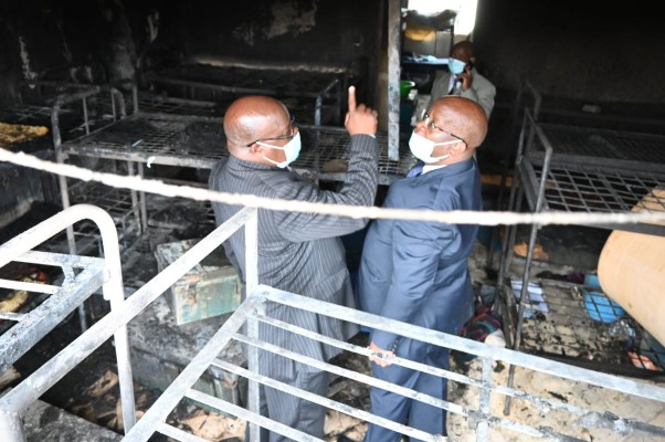 In pictures :Detectives comb Ofafa Jericho School for last night's fire clues