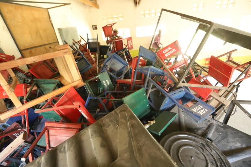 Chairs belonging to ECD pupils at Nanga Primary School (Photo: Denish Ochieng/ Standard)