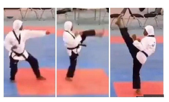 Eight months pregnant athlete wins Taekwondo Gold medal