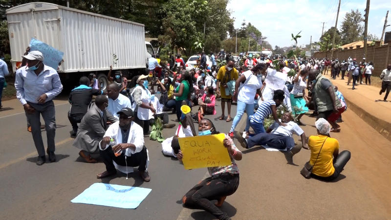 Embu health workers accuse governor of neglect, want action