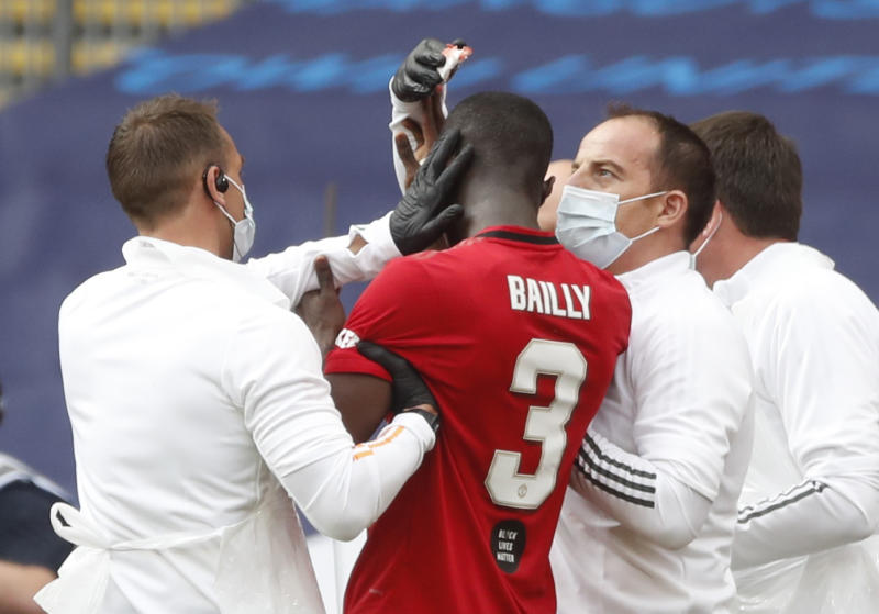 Eric Bailly sends message to Man United fans after frightening head injury vs Chelsea