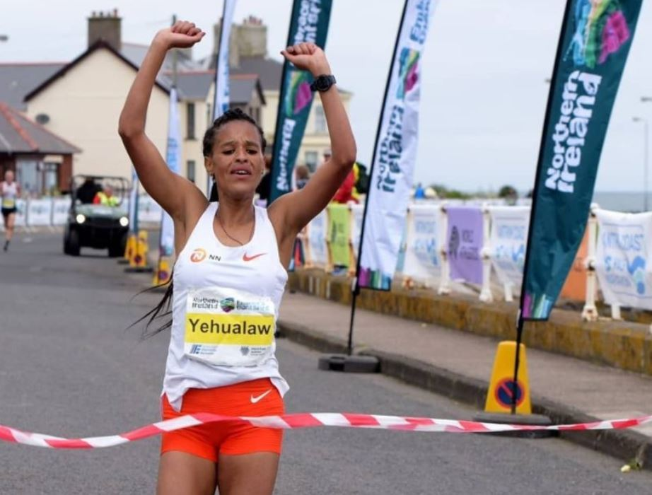 Ethiopia's Yehualaw smashes half marathon world record