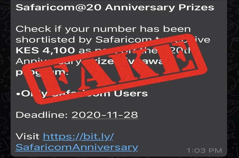 Fact Check: Safaricom not offering Prizes to shortlisted numbers