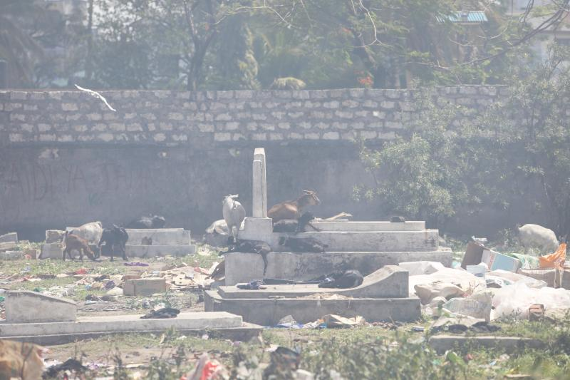 Garbage blocks families from visiting graves of departed kin