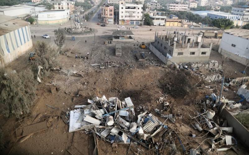 Gaza block collapses after Israeli strike, rockets hit Tel Aviv