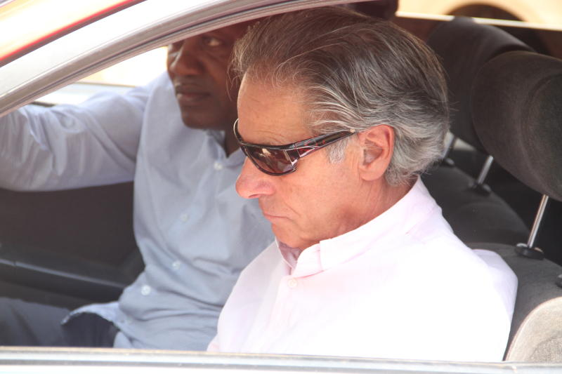 Tob Cohen's brother Bernard Cohen arriving at the Jewish burial site (Photo: Edward Kiplimo)