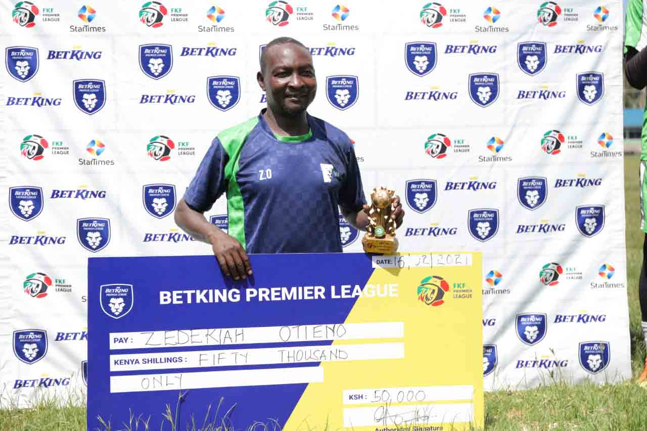 KCB coach Zico wins BetKing coach of the month for December