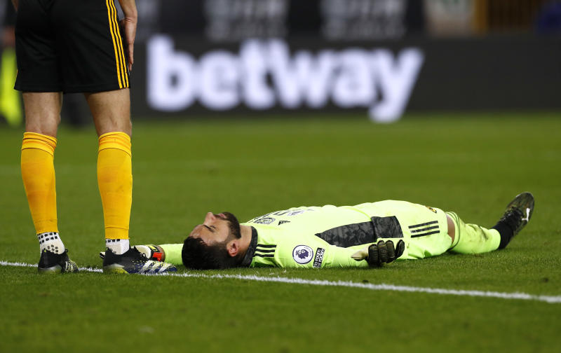Keeper Rui suffers head injury in horror collision- Klopp, Wolves manager gives update