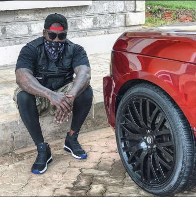 Khaligraph Jones pissed off at 'hater' who scratched his sleek Range Rover
