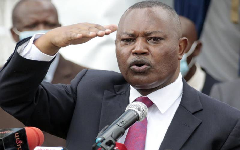 Kinoti eats humble pie on return of poll chaos cases