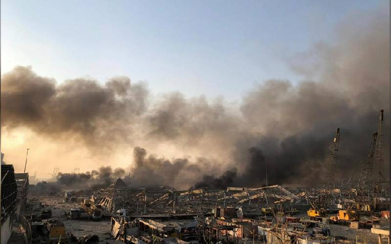 Large blast in Beirut port area rocks Lebanon's capital, many people hurt