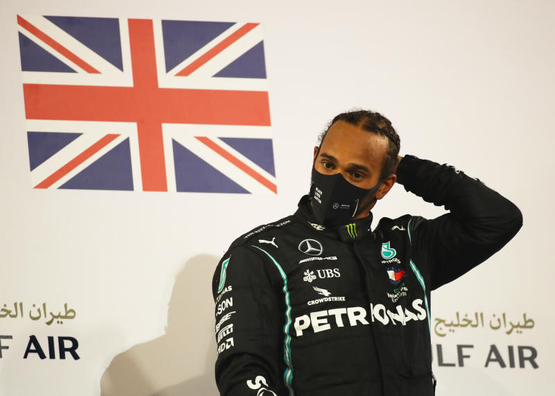Lewis Hamilton to miss Sakhir Grand Prix in Bahrain after positive Covid-19 test