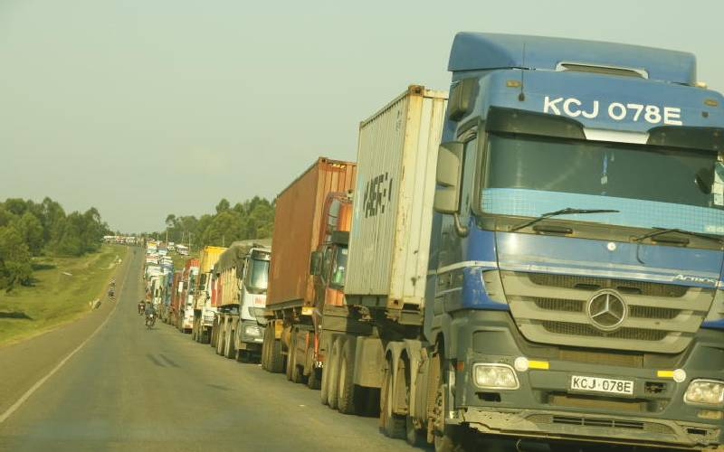 Life in hell for truckers stuck on road to Uganda
