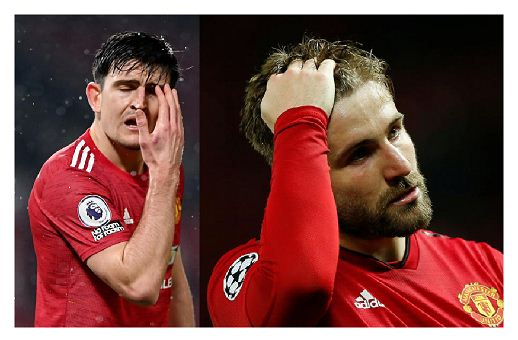 Man United defenders Maguire, Shaw miss training