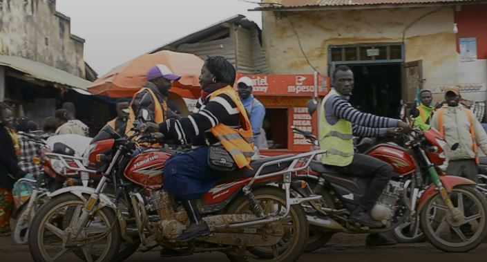Meet the woman driving a motorbike taxi
