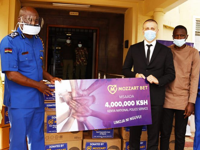 Mozzart donates PPES worth Sh 4 Million to the Kenya Police