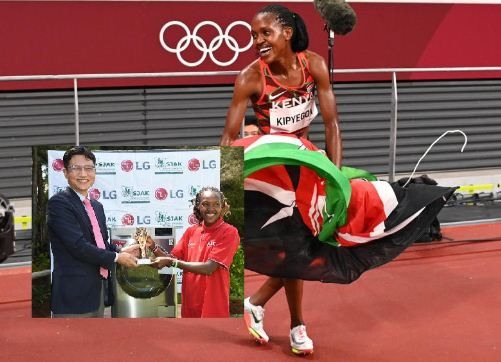 Olympic champion Faith Kipyegon named LG/SJAK Sports Personality for month of August