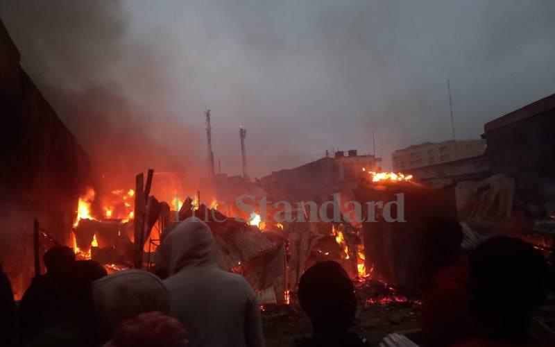Over 50 families left homeless after Mlolongo fire