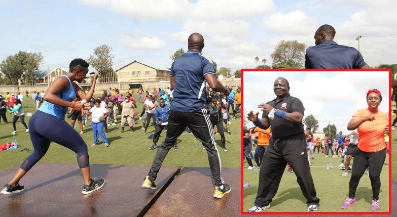 PLO Lumumba, Muluka and Ndolo celebrate Madaraka Day exercising at Camp Toyoyo