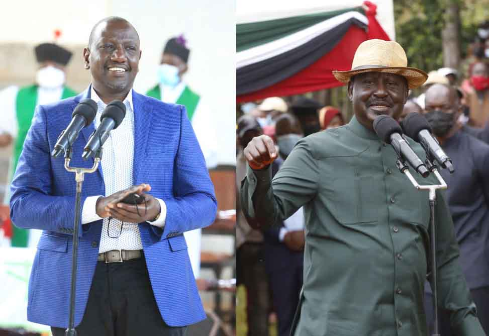Ruto and Raila trade barbs over flagship projects in hunt for votes