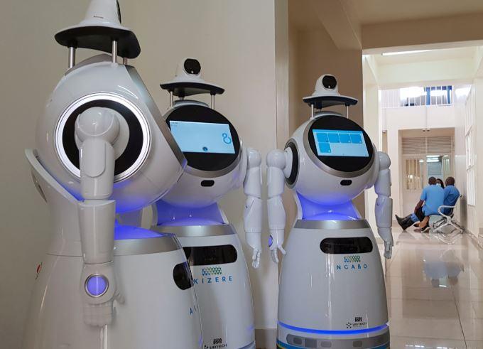 Rwanda deploys robots to beat Covid--19