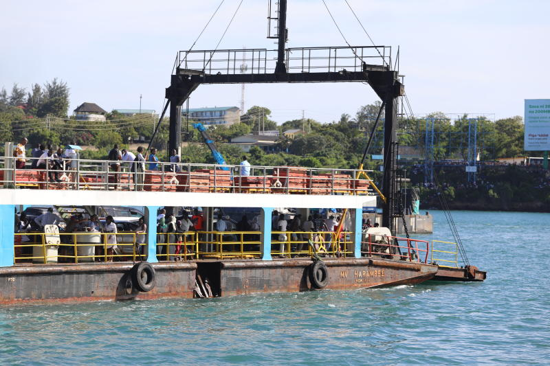 Kenya Ferry has been on the spot for the last two weeks after a vehicle slid and plunged into the Indian Ocean raising safety concerns (Photo: Kelvin Karani)