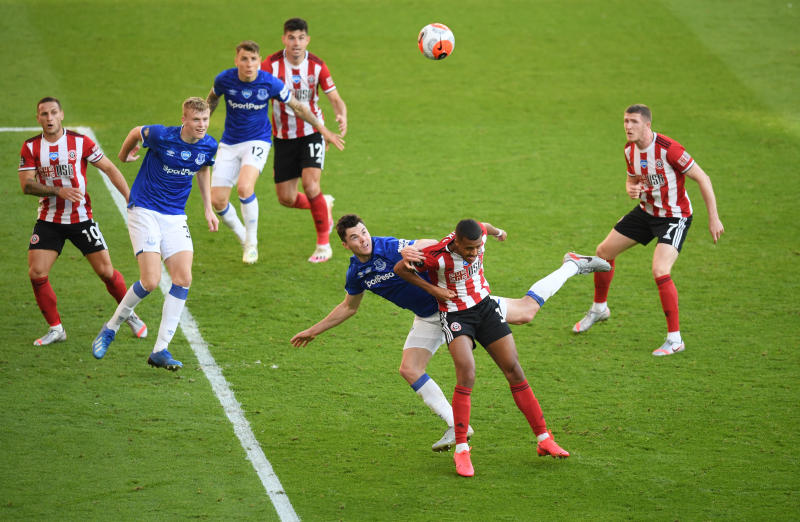 Sheffield United's European hopes fade after loss to Everton