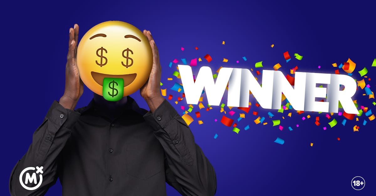 Shs 10 Million Mozzart Daily Jackpot winner wears an emoji to hide face