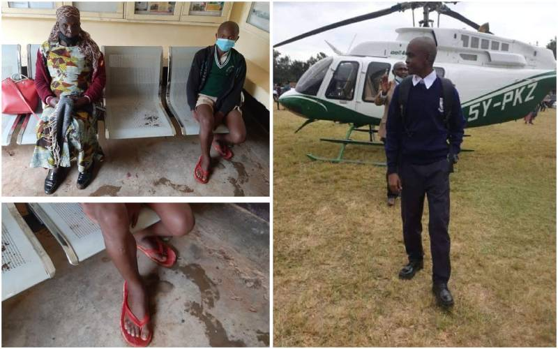 Student walks to secure Form One slot as another lands in a chopper in new school