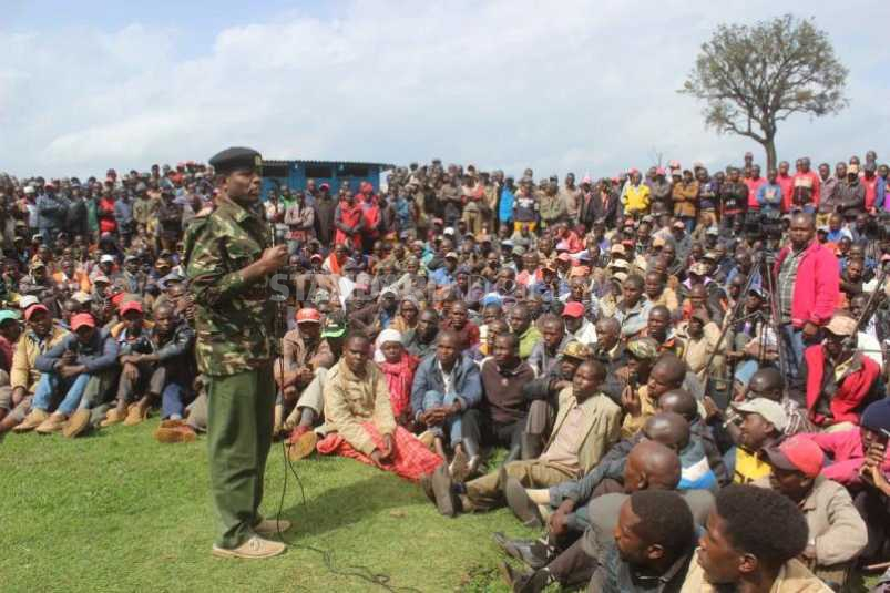Angry Mau settlers walk out of Natembeya meeting