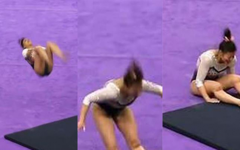 Horrifying moment: Female gymnast breaks both legs during competition [Photos]