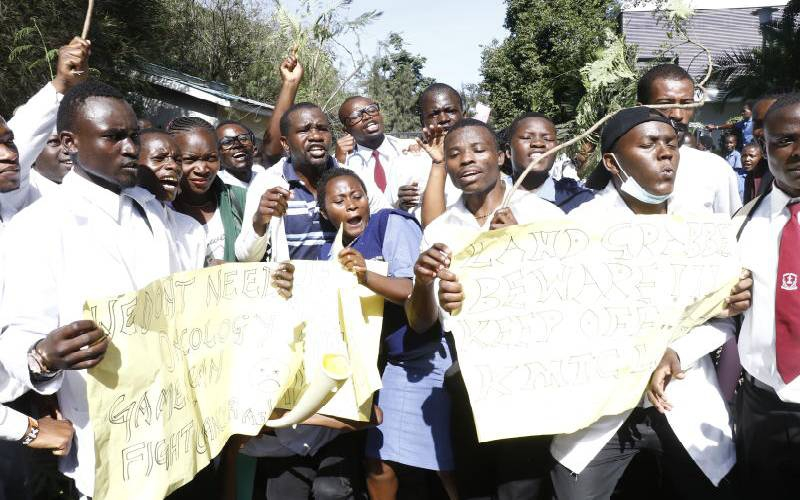 KMTC students fight off cancer centre plan