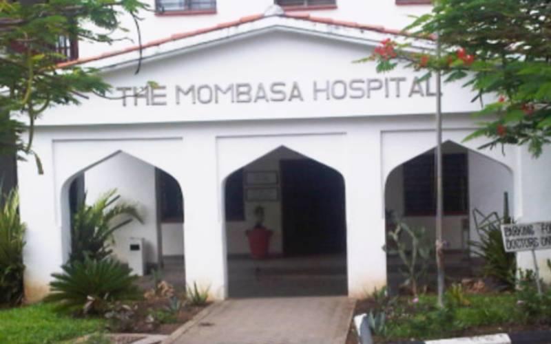 Mombasa Hospital on fire