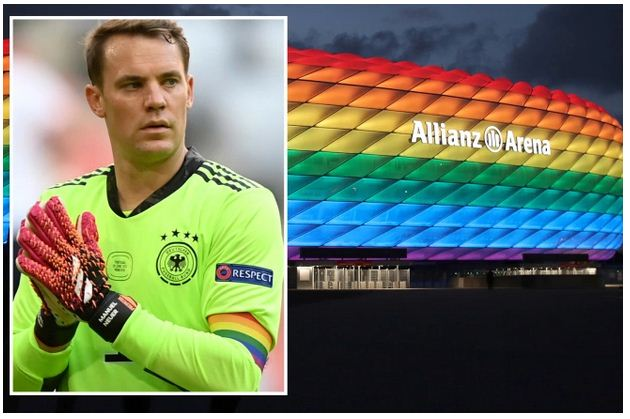 UEFA turn down request for stadium to be lit up in rainbow colours in protest against anti-gay policy